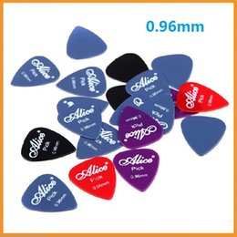 Wholesale Professional Guitar and Bass Practice Plectrums Alice mm Smooth Nylon Guitar Picks Plectrums Dropshipping