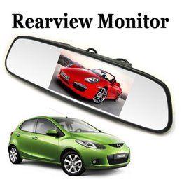 Wholesale Sale Sale Univeral Inch Color TFT LCD Parking Car Rear View Mirror Monitor Rearview Monitor for Backup Reverse Camera CMO_367