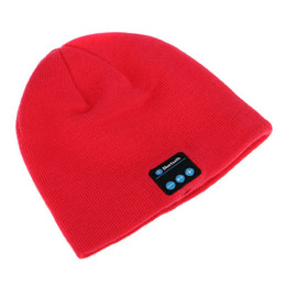 Soft Warm Beanie Bluetooth Music Hat Cap with Stereo Headphone Headset Speaker Wireless Mic Hands-free for Men Women DHL Free OTH145