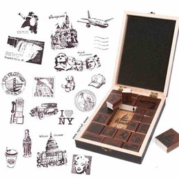 DIY New Blessing Wood Stamps vintage Thank you Stamp Gift Scrapbooking with Wood Box Free shipping order<$15 no tracking