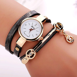 Wholesale Leather Dressings Wholesale - New Arrival Litchi Grain Style Leather Watch Women Dress Quartz Watch Fashion Bracelet Watches Relogios Femininos Reloj Mujer
