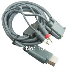 Promotion câbles xbox av Vente en gros-gros de haute qualité des composants VGA HD AV Câble à haute définition pour XBOX 360 xbox360 Livraison gratuite