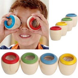 Descuento juguete educativo de abeja Funny efecto de ojo de niños caleidoscopio madera niños juguetes abeja bebé prisma Cool niños juguetes educativos clásico juguete gratis envío envío de la gota