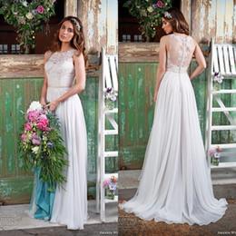 Wholesale 2016 Lace Vintage Wedding Dresses Beach Bohemian Boho Plus Size Sweep Train Beaded Amanda Wyatt Bridal Gowns