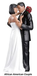 Wholesale African American Couple Topper Wedding Cake Decorations Forever Love Wedding Bride Groom Cake Topper Cheap Wedding Supplies LH