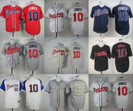 Wholesale atlanta braves chipper jones Baseball Jersey Cheap Rugby Jerseys Authentic Stitched Size