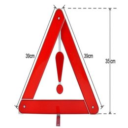 Wholesale 10pcs cm Reflective parking sign foldable warning triangles for car parking use security products