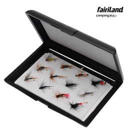12pcs Fly Fishing Lures for Trout Salmon with Medium Black Double Side EVA Insert Pad Fly Lure Hook Storage Case Box fishing tackle
