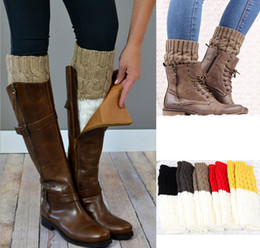 new womens boot cuffs socks leg warmer winter Leggings Warm up knitted booty Gaiters foot leg warmer