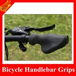 Wholesale HOT SALE Upgrade Mountain Bike Silicone BMX Grips Road Bicycle Handlebar Grips Ergonomic Butterfly Bar Ends Black Bicycle Parts