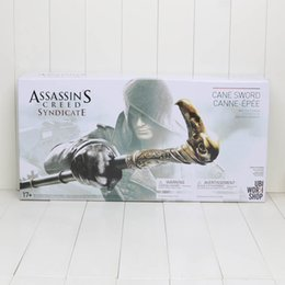 Wholesale New NECA Assassin s Creed Syndicate Sword Cane Cosplay Weapon Jacob Frye Cane Hidden Blade PVC Action Figure Model Toy Gifts