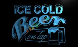 Wholesale LB912 TM Ice Cold Beer on Tap Bar Neon Light Sign Advertising led panel jpg