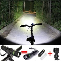 Wholesale Cycling bicycle bike light Lumen Zoomable CREE XM L Q5 LED flashlights lamps bracke of degree can be adjusted kit