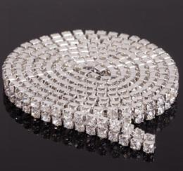 Wholesale MIC Yard Row Diamante Rhinestone Chain Cake Banding Trim Cake Decoration Wedding Supplies Hot