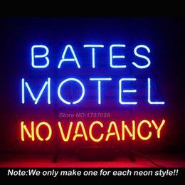Wholesale New Bates Motel No Vacancy Neon Sign Bright Neon Bulbs Custom Art Design Gift Real Glass Tube Handcraft Beer Bar Pub x14