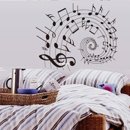 Wholesale bedroom decoration Liner notes bedroom living room wall stickers environmental classrooms decorative wall stickers background music AY9164