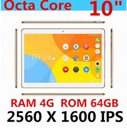 "Acheter en ligne Tablette 3g appel-10 ""Octa Core Tablet 2560X1600 IPS RAM 4Go ROM 64Go 8.0MP 4G MTK6592 Double carte SIM Téléphone Call Tablets PC Android5.1GPS / IPS"