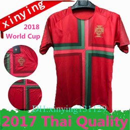Best quality PORTUGAL jerseys 2018 world Cup home PORTUGAL Soccer jersey uniform 17 18 RONALDO NANI QUARESMA PEPE GUERREIRO Football Shirts
