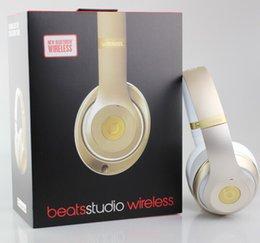 Wholesale Studio Wireless on ear Headphone Refurbished big headphones Noise Cancel Headset Champagne Gold Studio Headphones