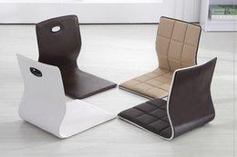 Wholesale Japanese Furniture Living Room Chair Faux Leather Design Floor Tatami Legless Meditation Zaisu chair For the Floor