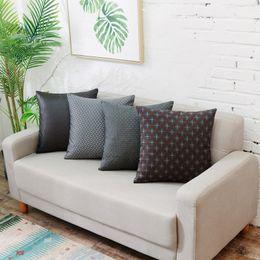 British style Throw pillow cover Durable Polyester fabric Nylon yarn Geometric Patterns Hidden zipper Top-grade pillow cushions home decor
