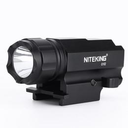 NITEKING G102 LED Tactical Gun Flashlight 2-Mode 600LM Pistol Handgun Torch Light Lamp Taschenlampe