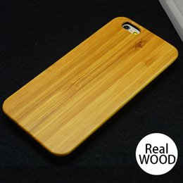 Wholesale Wood Case Cover for Apple iPhone SE S S sPLUS Handcrafted True Woody Genuine Cherry Bamboo Durable Plastic Edges DHL shipping