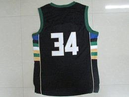 Wholesale Cheap Giannis Antetokounmpo Jersey New Best Quality Jersey Black Embroidery Stitched Logos Jersey