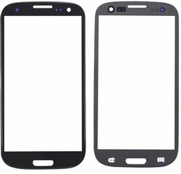 Wholesale For Samsung Galaxy Note2 N7100 Note Faceplates Front Outer Touch Screen Digitizer Lens Glass Black White