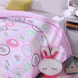 Wholesale cotton rabbit comforter set summer seasons beautiful goodliness quilt comfortable