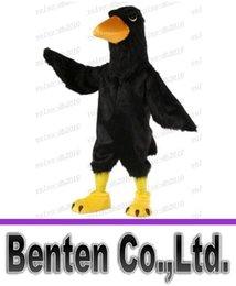 Wholesale Carnival Mascot Black Big Bird Raven Mascot Costume Adult Size Cartoon Character Outfit Suit Fancy Dress Costumes LLFA3038F