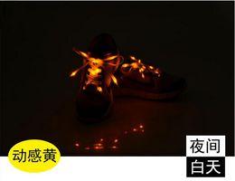 Acheter en ligne Discothèque clignotant conduit-Luminous LED Multicolors Lacets 2016 Nouveau Hommes Femmes Flash Light up Glowing bâton Strap Shoe Strings Disco Party Night