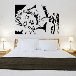 Creative SEXY Marilyn Monroe design wall sticker for living room Bedside background carved waterproof protection sticker