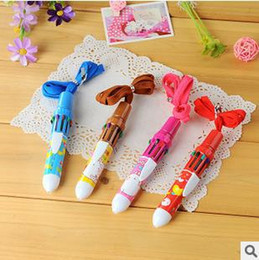 Wholesale high quality cute cartoon print color automatic ballpoint pen office school goods supplier online for sale bic pens