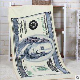 Wholesale 300pcs CCA3203 High Quality cm Creative Unisex Cotton Polyester UK Bikini Print Beach Towel USD Design Body Towel Party Bath Towel