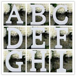 Wholesale Home Decor Decoration thick Wood Wooden White Letters Alphabet Wedding Birthday cmX1 cm