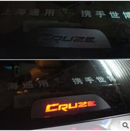 Wholesale New Carbon fiber high brake lights car stickers decoration accessories special for Cruze Chevrolet AP