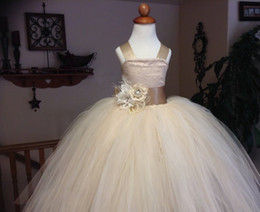 High Quality White Flower Girl Dresses 2015 Spaghetti Straps Princess Girls Pageant Dresses Kids Wedding Party Gown