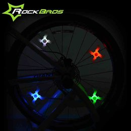 ROCKBROS Bicycle Wheel Spokes Lamp New Model Batarang & Cross Light MTB Mountain Bike Road Bike Wheel Spokes Lights 4Colors
