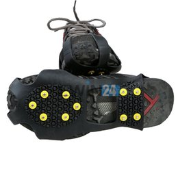 Wholesale Studded Shoes Wholesale - Over Shoe Studded Non-slip shoe covers Spike Slip Snow Shoes Crampons Cleats Camping Fishing New and Hot Selling 180pairs