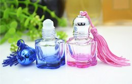 Wholesale Small Perfume Roll - reusable container 5ml perfume refillable bottle glass screw-on portable perfume bottle cosmetic liquid roll-on small bottle