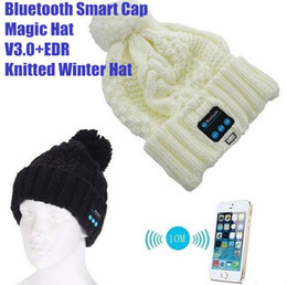Wholesale Cowboy Hats Girls Pink - New Arrival Bluetooth beanie Hat Cap Knitted Winter Magic Hands-free Music mp3 Hat for woman Men Smartphones