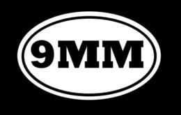 Wholesale Car Stickers 9mm Gun Pistol Hunting Ammo Handgun Window Decal Sticker