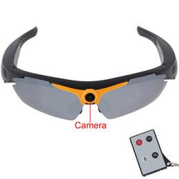 Wholesale Full HD P Sport Sunglasses dvr camera degree Wide Angle Sunglass camera Camcorder Video Recorder remote control
