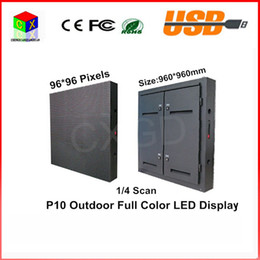 960*960mm Waterproof cabinet RGB smd Full color P10 LED display screen Waterproof outdoor large screen 96*96 pixels