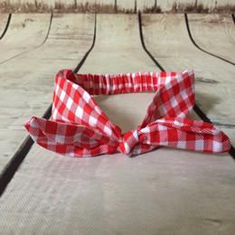 Top Knot Baby Headband,plaid headband,plaid bow turban,plaid red bow baby girls headwraps,red plaid band