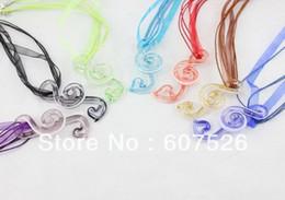 Wholesale 28pc Baroque Style Colorflu Fashion Italian D Flower Music Art Bead Lampwork murano glass pendant necklace jewelry