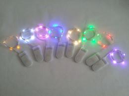 Promotion des vacances mini-lumières Bouton cellule alimenté par batterie 5 LED couleur argent fil de cuivre Mini feutre chaîne de lumières pour fête de mariage de Noël vacances 8 couleurs
