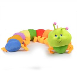 Wholesale 2015 New Sizes Baby Toys Colorful Caterpillars Millennium Bug Doll Plush Toys Large Caterpillar Hold Pillow Doll MYF24