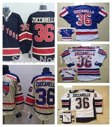 New York Rangers Hockey Jerseys 36 Mats Zuccarello Jersey Home Royal Blue White Winter Classic Mats Zuccarello Stitched Jersey